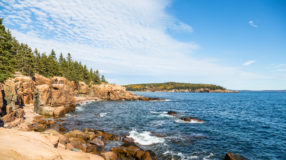 Coastline of Acadia National Park, Maine.