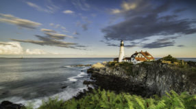 Lighthouse at Cape Elizabeth.